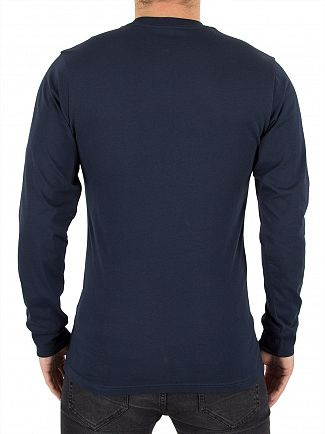 Vans Navy/Frost Classic Longsleeved Graphic T-Shirt