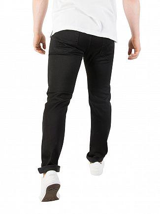 Edwin Ink Black Denim ED-80 Slim Tapered Jeans