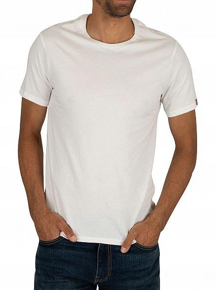 Levi's White 2 Pack Crew T-Shirts