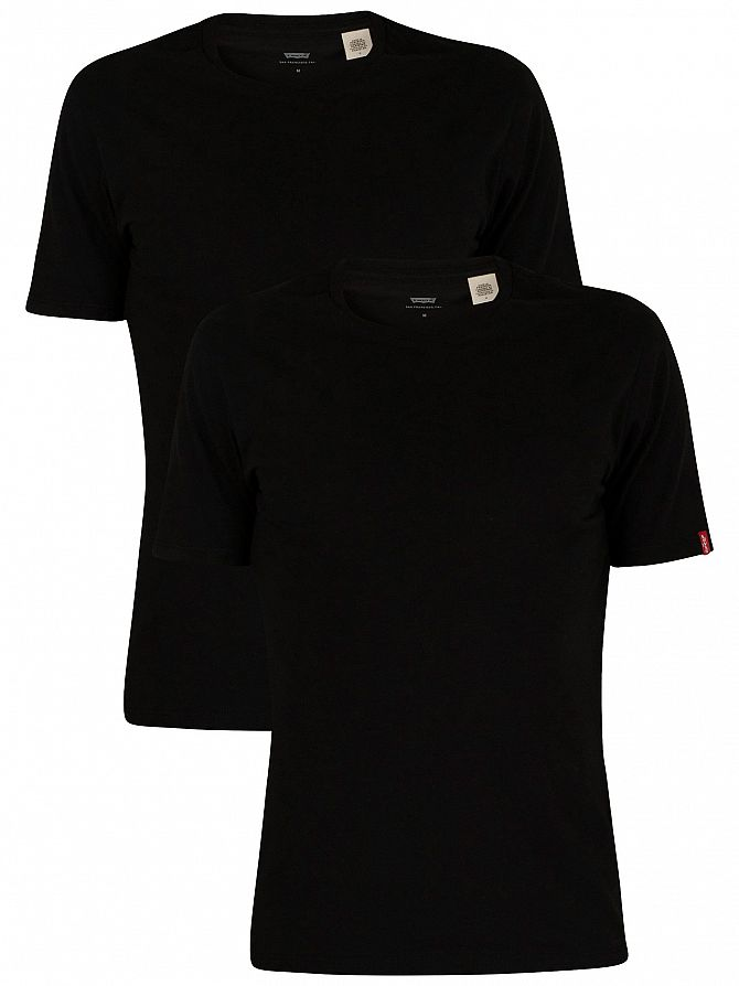 Levi's Black 2 Pack Crew T-Shirts