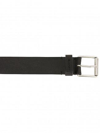Gant Black Classic Logo Jeans Belt