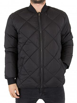 Jack & Jones Black South Bomber Logo Jacket
