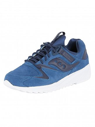 Saucony Navy Grid 8500 Trainers