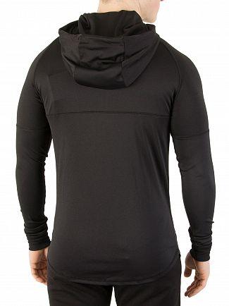 Sik Silk Black/Gold Zonal Zip Logo Track Top Hoodie