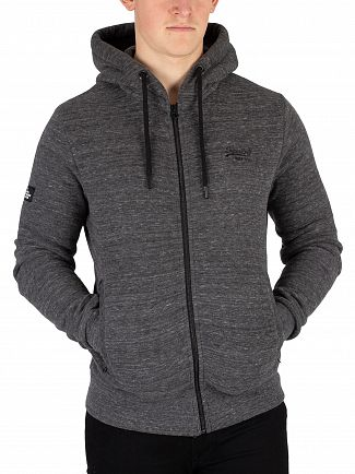 Superdry Asphalt Grit Orange Label Urban Zip Hoodie
