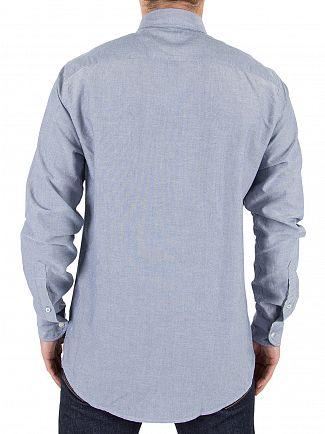 Tommy Hilfiger Estate Blue Engineered Oxford Logo Shirt