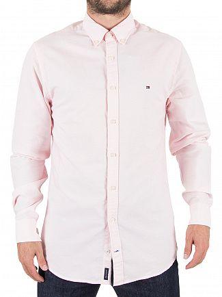 Tommy Hilfiger Pink Engineered Oxford Logo Shirt