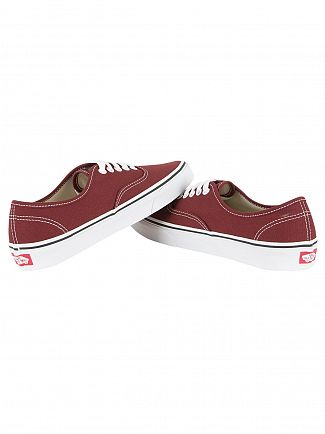 Vans Madder Brown/True White Authentic Canvas Trainers