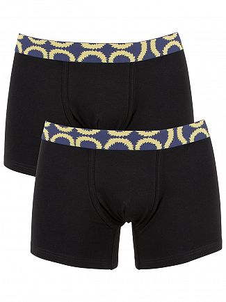 Vivienne Westwood Black 2 Pack Squiggle Waistband Trunks