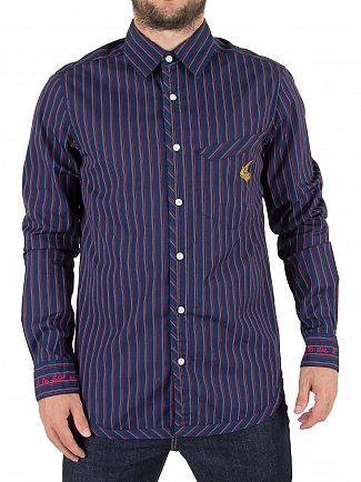 Vivienne Westwood Navy Stripes Classic Pocket Logo Shirt