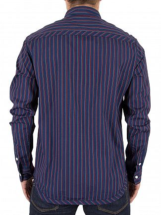 Vivienne Westwood Navy Stripes Classic Pocket Logo Shirt