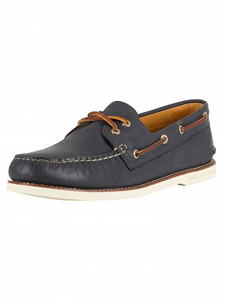 Sperry Top-Sider Navy Gold A/O 2-Eye Boat Shoes
