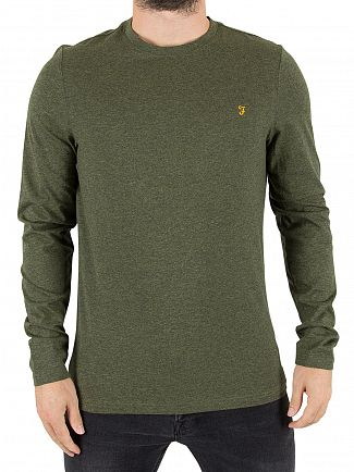 Farah Vintage Evergreen Denny Longsleeved Slim Fit Logo T-Shirt