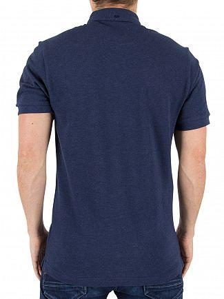 Farah Vintage Yale Marl Merriweather Logo Polo Shirt