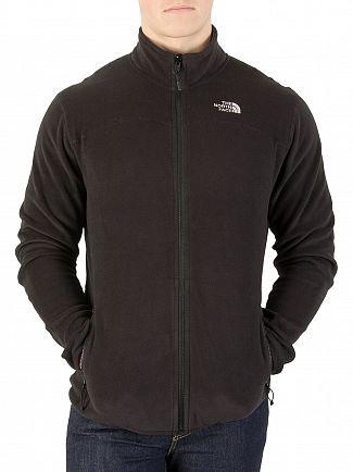 The North Face Black Glacier Logo Zip Fleece Jacket