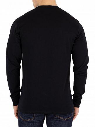 Vans Black/White Classic Longsleeved Logo T-Shirt