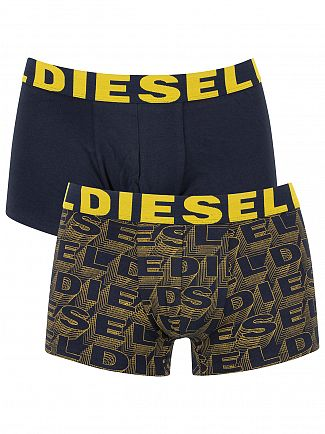 Diesel Black/Yellow 2 Pack Shawn Seasonal Logo Trunks