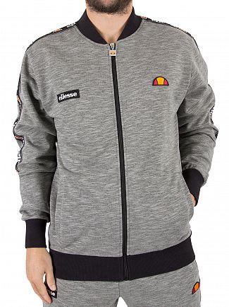 Ellesse Grey Marl Joyner Logo Tracktop Jacket