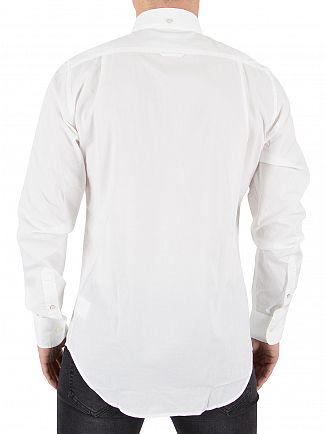 Gant White The Plain Broadcloth Slim Shirt