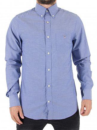 Gant Yale Blue The Plain Broadcloth Slim Shirt