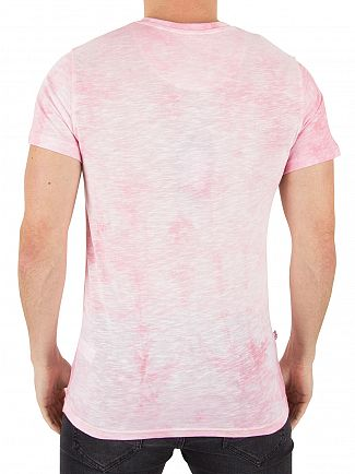 Good For Nothing Pink Acid Wash Logo T-Shirt