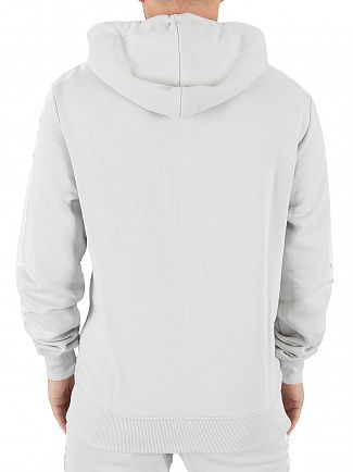 Good For Nothing Ice Grey Zip Logo Hoodie