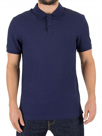 J Lindeberg Mid Blue Troy Sharp Logo Polo Shirt