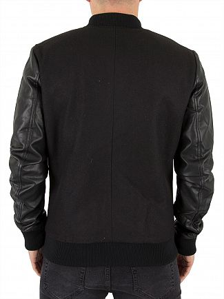 Only & Sons Black Elton Bomber Raglan Jacket