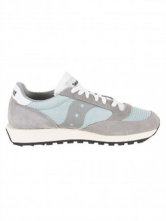 Saucony Grey/White Jazz Original Vintage Trainers