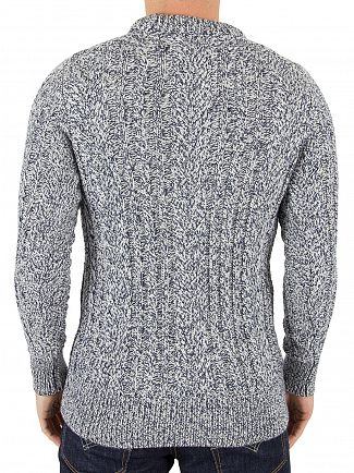 Superdry Dinghy Blue Twist Jacob Heritage Logo Knit