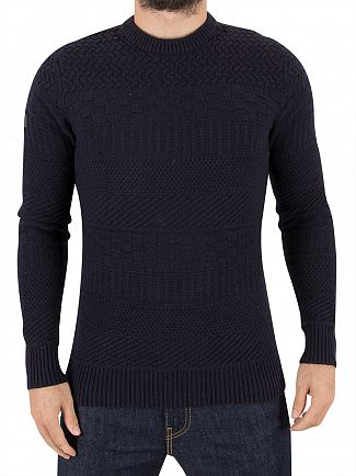 Superdry Dark Navy Skolm Textured Knit