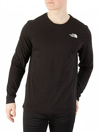 The North Face Black Longsleeved Easy Logo T-Shirt