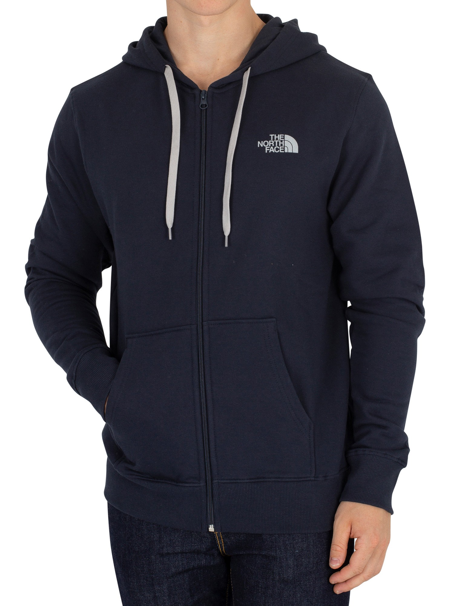 acb24ccb0 The North Face Urban Navy/Grey Open Gate Zip Logo Hoodie