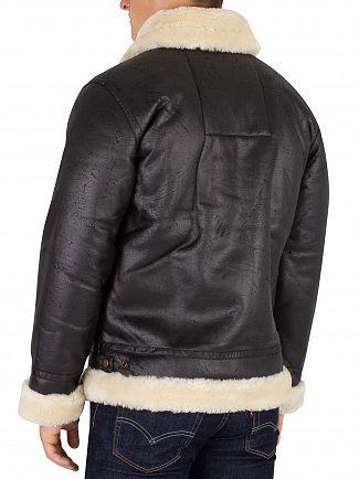 Alpha Industries Black B3 FL Fur Collar Bomber Jacket