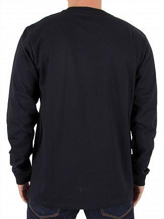 Carhartt WIP Dark Navy/Gold Longsleeved Chase T-Shirt
