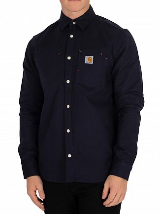 Carhartt WIP Dark Navy Rigid Tony Pocket Shirt