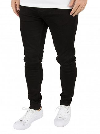 Gym King Black Skinny Tapered Denim