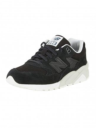 New Balance Black/Grey 580 Trainers