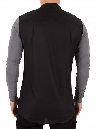 Sik Silk Black/Light Grey Jersey Contrast Sleeve Shirt
