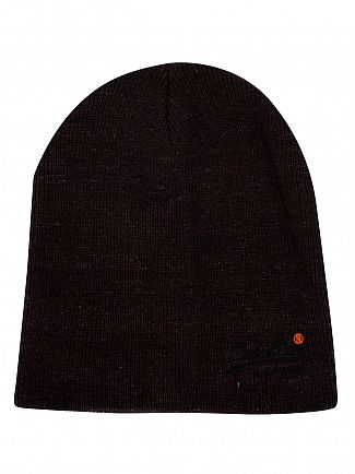 Superdry Black Orange Label Basic Beanie