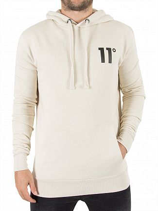 11 Degrees Cream Pull Over Hoodie