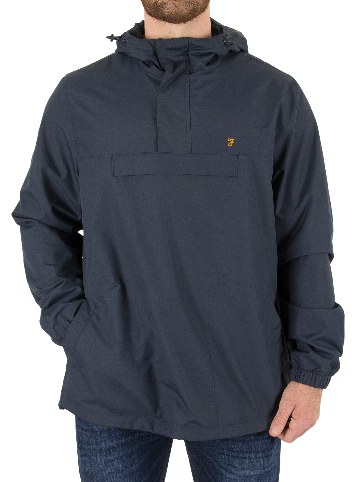 Farah Vintage True Navy Clydesdale Pullover Jacket