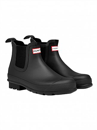 Hunter Black Original Dark Sole Chelsea Boots
