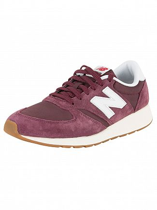 New Balance Burgundy/White 420 Trainers