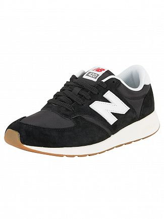 New Balance Black/White 420 Trainers