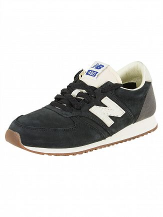 New Balance Black/Off White 420 Trainers