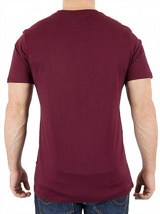 Nicce London Burgundy Chest Logo T-Shirt
