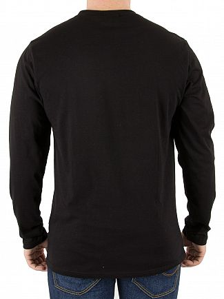 Nicce London Black Longsleeved Chest Logo T-Shirt