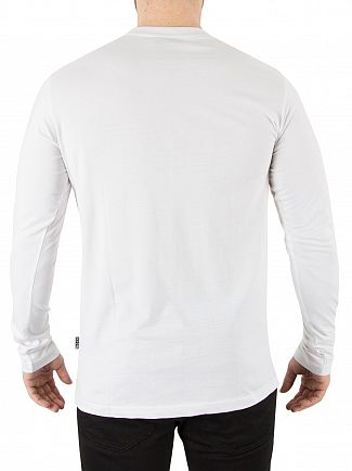 Nicce London White Longsleeved Chest Logo T-Shirt