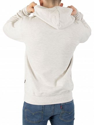 Nicce London Birch Grey Original Logo Hoodie